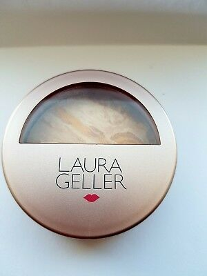 "Laura Geller Balance n Brighten Foundation ""Fair"" 9gm. Beautiful rose gold case"