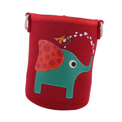 Portable Bottle Sleeve Carry Insulator Bag Outdoor Water Case Red Elephant