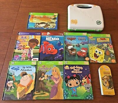 Lot of 8 Leap Frog Tag Reader Boys Girls Books. Carry Case + Activity Cards.