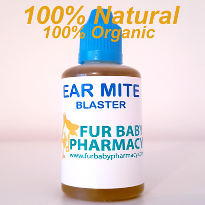 Dog Ear Drops Fur Baby Pharmacy Mites & Bacterial Yeast Infections Massive 30ml