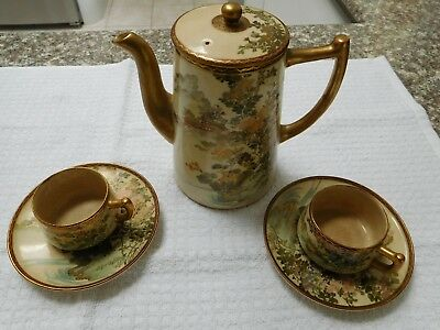 Antique Fine Japanese satsuma tea set A1 Quality condition