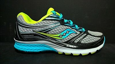 a8d62b6f SAUCONY WOMEN'S SIZE 5 Wide Guide 9 Running Shoes S10296-1 Gray Black Blue