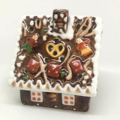 Villeroy & Boch Miniatures Porcelain Christmas Tea Light Holder Witch House A/F