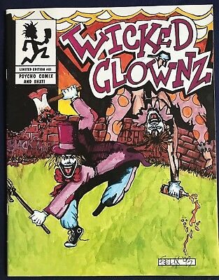 "ICP ""Wicked Clownz"" Original Comic Insane Clown Posse-Psycho Comix and Shxt!"