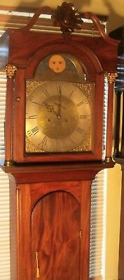 "Antique Mahogany "" Liverpool"" Brass Moon Dial "" Longcase / Grandfather Clock"