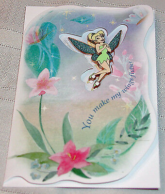 Disney Tinker Bell Valentine Day Card and Pin Tinkerbell 250 Limited Edition Pin