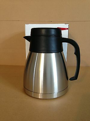 34oz STEEL-LINED VACUUM INSULATED CARAFE / STAINLESS STEEL BEVERAGE SERVER (NEW)
