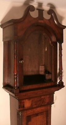 Antique Slim  Oak  / Mahogany   Longcase / Grandfather Clock Case Only
