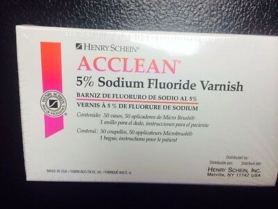 Dental Varnish , 5% Sodium Fluoride Varnish, Mint  Flavor 50/Box made in USA