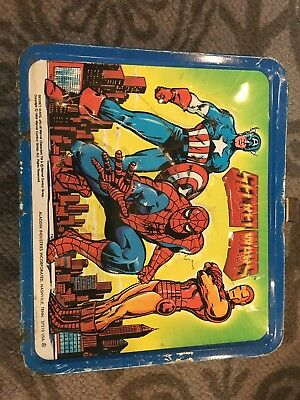 Secret Wars Metal Lunch Box Aladdin Industries 1984 Marvel Comics-No Thermos