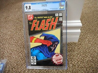 Flash 318 cgc 9.8 IMPOSSIBLE BLACK cover DC 1983 WHITE pg MINT Eradicator unmask