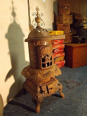 🎄 ~ RED CROSS OAK LEAF #121 ~ Co-Op Foundry Co ~ Rochester NY~ Parlor Stove ~🎄