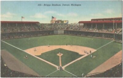 1943 Briggs Baseball Stadium Detroit Michigan Curt Teich Detroit Tigers