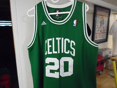 ADIDAS NBA Boston Celtics  20 Ray Allen Green Sewn White Jersey Men s Size  XL + 3296d112d