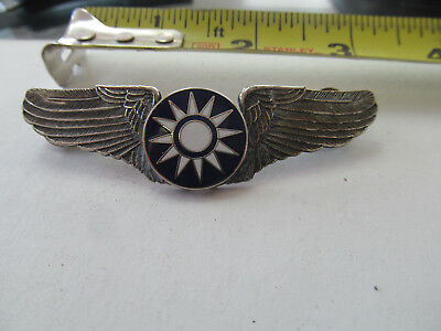Chinese Pilot Wing Badge // Flying Tiger Avg / Usaaf