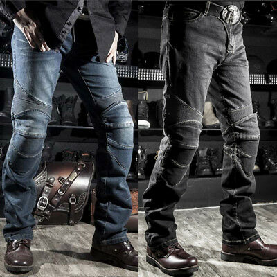 Drop Resistance Motorcycle Jeans Slim Denim Cycling Racing Pants With Protector