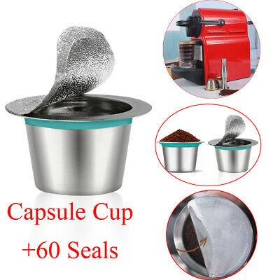 Refillable Reusable Coffee Capsules Pods Stainless SteelFilter Nespresso