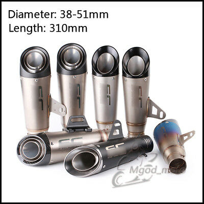 Motorcycle Exhaust Muffler Pipe NO Removable DB Killer Slip on Exhaus 38~51mm