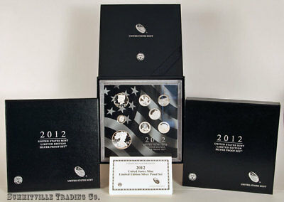 Lot Of Two 2012 Limited Edition Silver Proof Sets #1 In Original U.s. Mint Pkg.