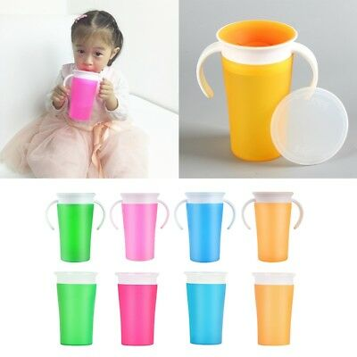Baby Trainer Drinking Cup Decor 360°Sippy Cup Anti Spill