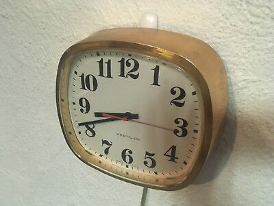 Vintage Westclox Electric Faux Copper Kitchen Wall Clock