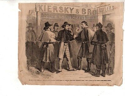 1864 Leslies illustrated January 9 -Army of the Mississippi conscripts Vicksburg
