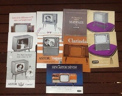 Collection of Television Brochures Late 1950's.....Super.......