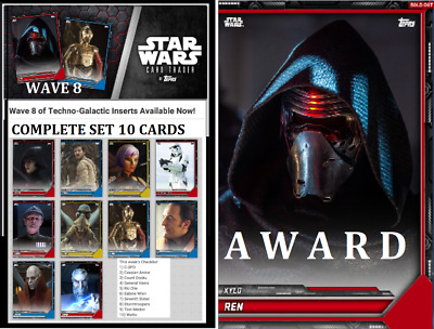 Topps Star Wars Card Trader Techno-Galactic Insert Wave 8  [Set 10 Cards]