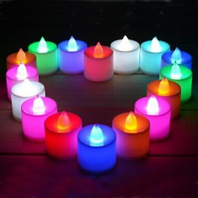 1-48pcs Candles Tealight Led Tea Light Flameless Flickering Wedding + Battery AU