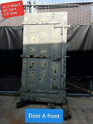2 Tin Clad Chicago Vintage Fire Doors Selling Both Together As A Set