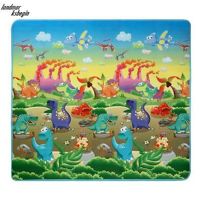 Double 2 Side Sided Kids Crawling Educational Play Mat Picnic Carpet 200X180Cm