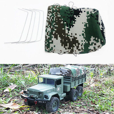 Professional Canvas Hood Cover Cloth for WPL B-24 1/16 RC Military Vehicle Truck