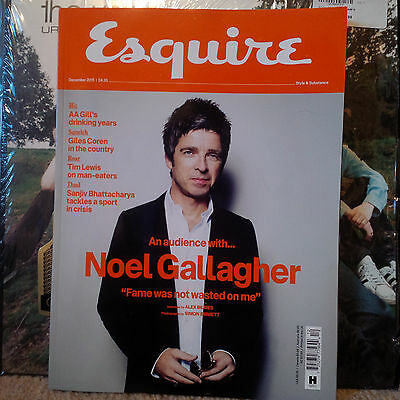 Noel Gallagher Esquire Magazine December 2015 Oasis Liam High Flying Birds