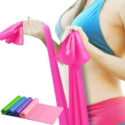 1.5m Gym Exercise Fitness Wide Strap Band Elastic Yoga Stretch Resistance Belt