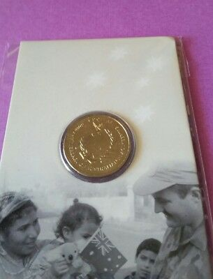2007 $1  UNC R.A.M CARDED COIN / 60th ANNIVERSARY OF AUSTRALIAN PEACEKEEPING