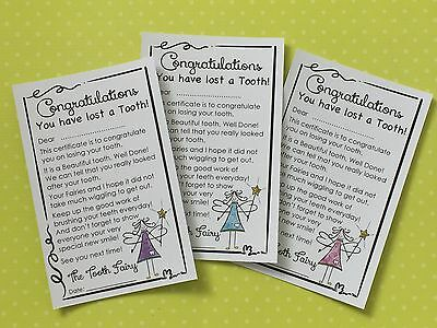 Fairy Door Accessories - Fairy Door Certificate - Tooth Fairy Certificate.