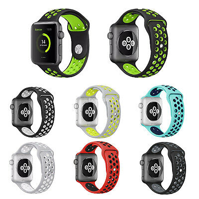 Sport Bands Soft Silicone Replacement Strap For Apple Watch 42/44/40/38mm iWatch