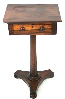 Antique William IV Rosewood Sewing Table - FREE Shipping [PL4553]