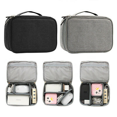 Electronics Cable Organizer USB Earphone Gadget Storage Case Bag Travel Pouch