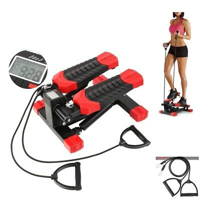 FEMOR Mini Aerobic Stepper Exercise Fitness Elastic Rope Workout Arm gym machine