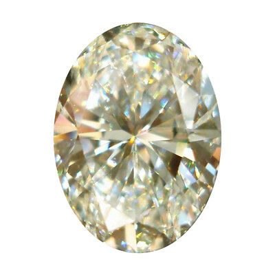 9 X 7 MM 2 Carat Off White Oval Brilliant Cut Loose Moissanite for Ring