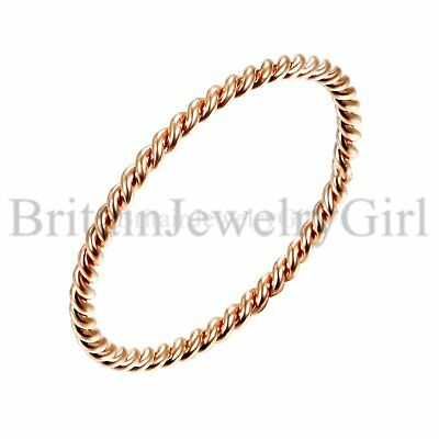 Stainless Steel Women's 1.5mm Stackable Twisted Rope Wedding Ring Band Size 5-8