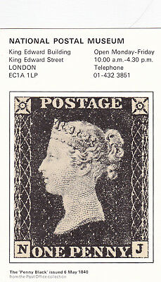 GB 1980 Penny Black National Postal Museum Postcard used VGC