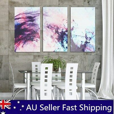 3Pcs Framed Abstract Stretched Canvas Print Paintings Home Wall Decor 12/16/20''