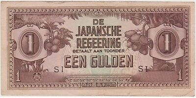 (N15-59) 1940s Japanese invasion money EEN GULDEN bank note (BH)