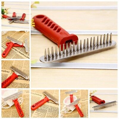 Pet Dog Cat Hair Fur Deshedding Shedding Trimmer Grooming Rake Comb Brush Tool