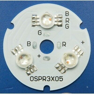 TruOpto OSPR3XT5 3-LED RGB Round Power LED Module