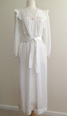 vintage CHRISTIAN DIOR white bathrobe robe S small