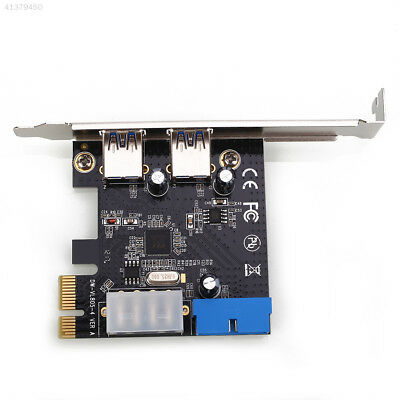 PCI-E To USB 3.0 2 Ports Expansion Card Hub Riser For Desktop Motherboard