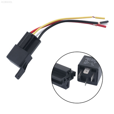 4Pcs Auto Car 12V 50A 4Pin Device Install Amp Style Relay W/Wires Harness Socket